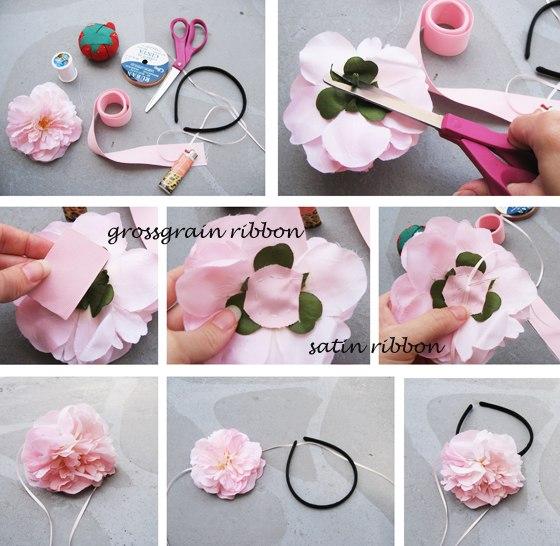 Ободка своими руками цветы